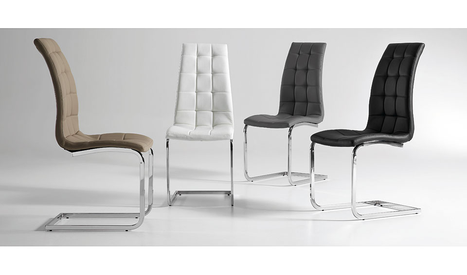 Silla moderna winter no disponible en for Sillas comedor blancas modernas