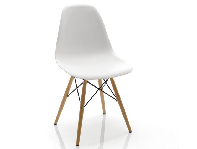 Silla blanca moderna nyoma no disponible en for Muebles sillas comedor modernas