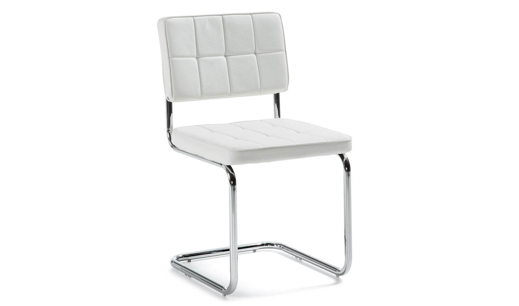 Sillas comedor blancas modernas sillas blancas de comedor for Sillas polipiel baratas