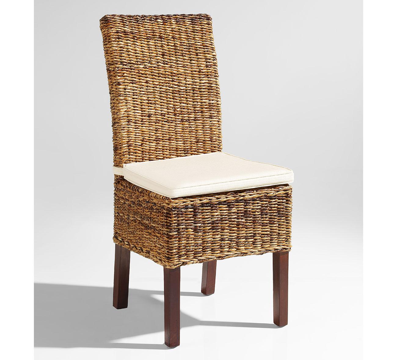 Silla con cojin en cuerda colonial masai en for Portobello muebles coloniales