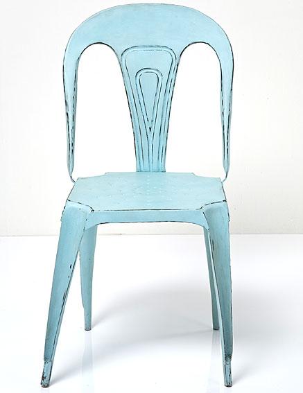 Silla hierro azul turquesa no disponible en for Sillas comedor turquesa