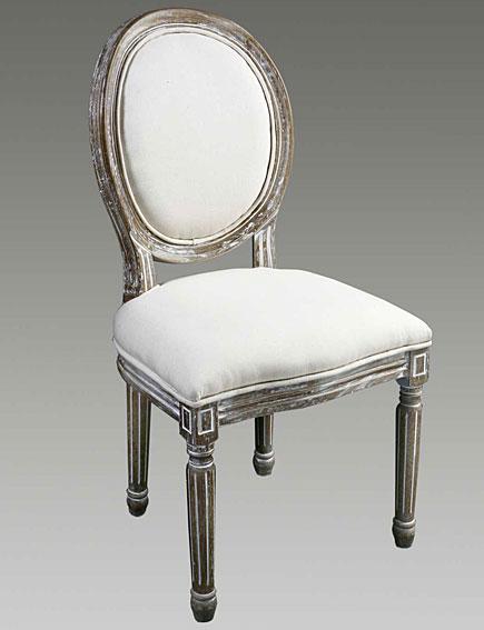 Silla respaldo tapizado madera lavada no disponible en for Tapizados de sillas modernas