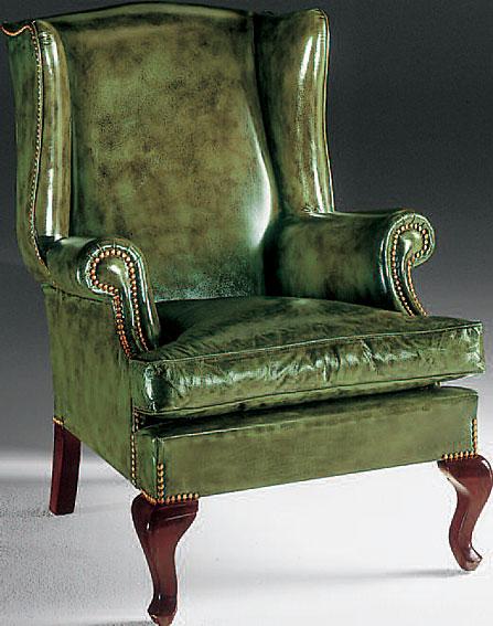 Sill n orejero piel rimini en for Muebles sillones sofas