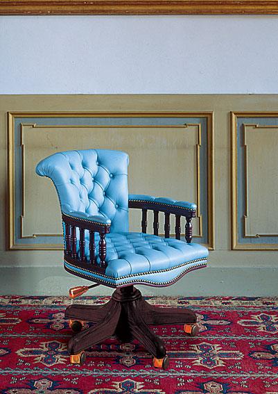 Sillón piel giratorio Amalfi de lujo en Portobellodeluxe.com. Tu ...