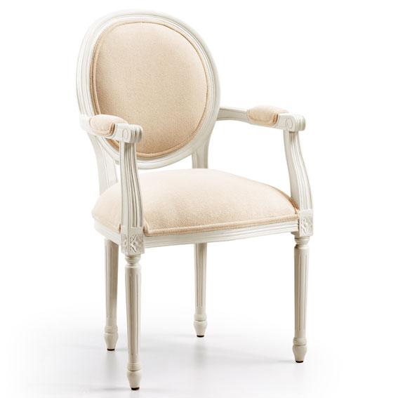 Sill n blanco antiguo vintage tapizado en for Muebles japoneses antiguos