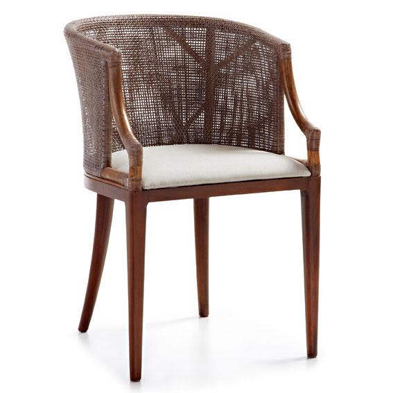 Sill n ratt n tapizado colonial luxor no disponible en for Rattan muebles