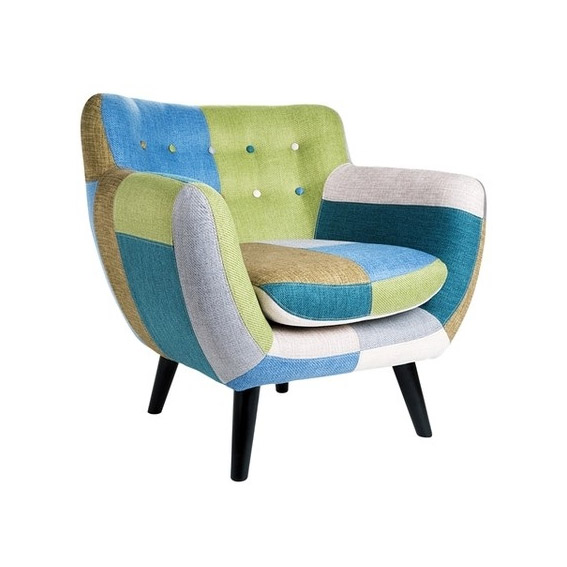 Sill n retro patchwork fr o azules no disponible en for Muebles patchwork