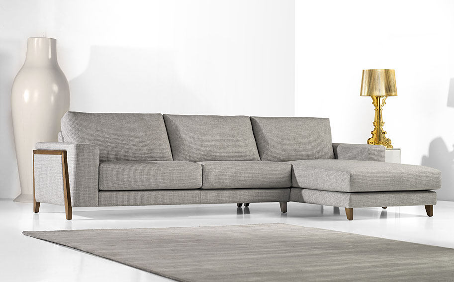 Sofa With Chaise Lounge Denim Sectional : vintage chaise lounge sofa - Sectionals, Sofas & Couches