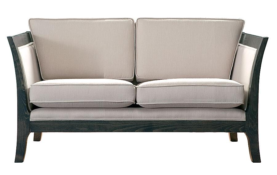 Sofa 2 plazas colonial tapizado blanco force en cosas de for Medidas sofa 2 plazas