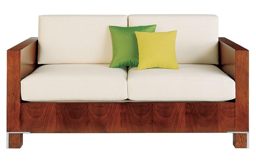Sof 2 plazas moderno tapizado blanco drake en for Sofa exterior 2 plazas