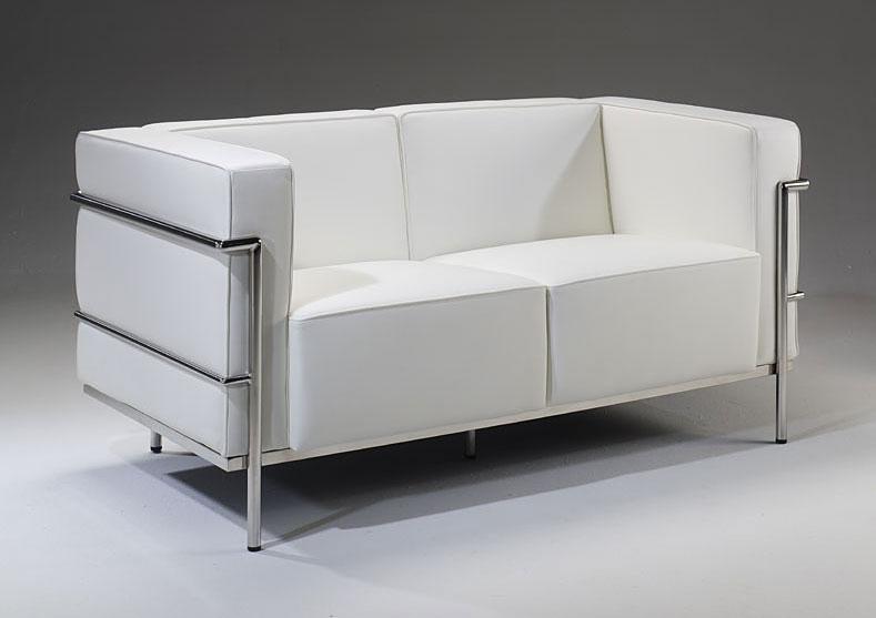 Sof 2 plazas de piel lercoser no disponible en for Medidas sofa 2 plazas