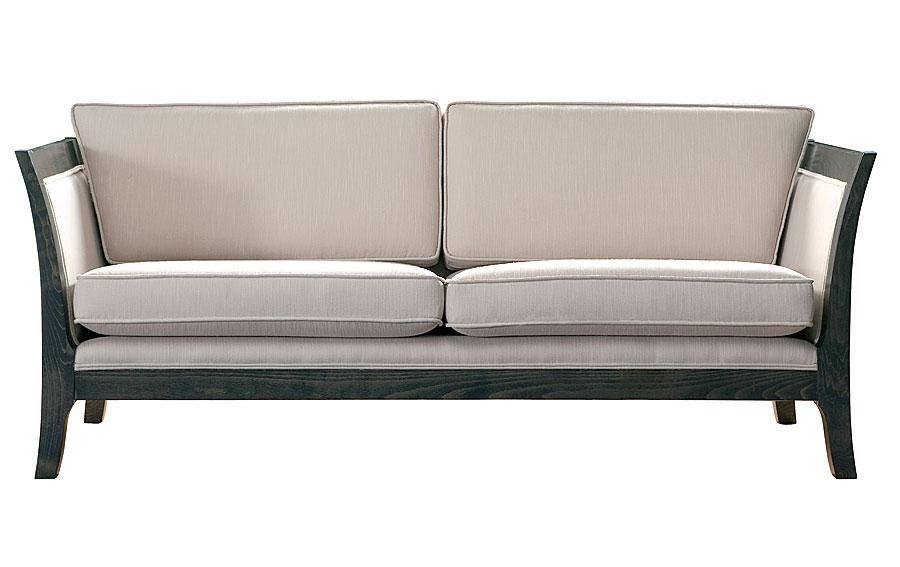 Sofa 3 plazas colonial tapizado blanco racer en cosas de for Medidas sofa 3 plazas