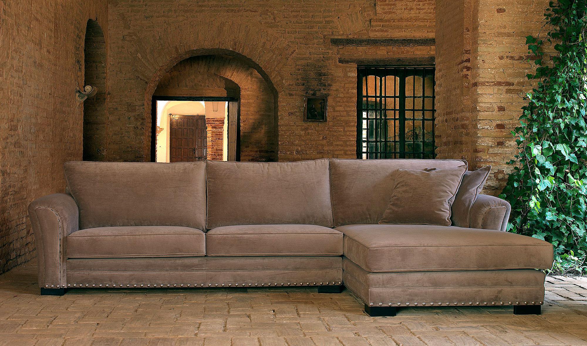 Sof 3 plazas con chaise longue cl sico tigris no for Sofas de estilo clasico