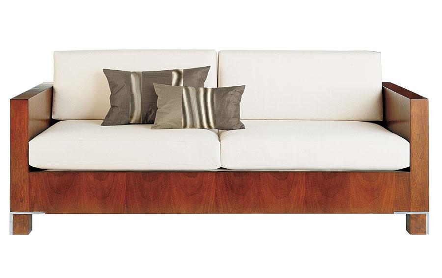 Sofa 3 plazas moderno tapizado blanco drake en cosas de - Sofa 3 plazas medidas ...