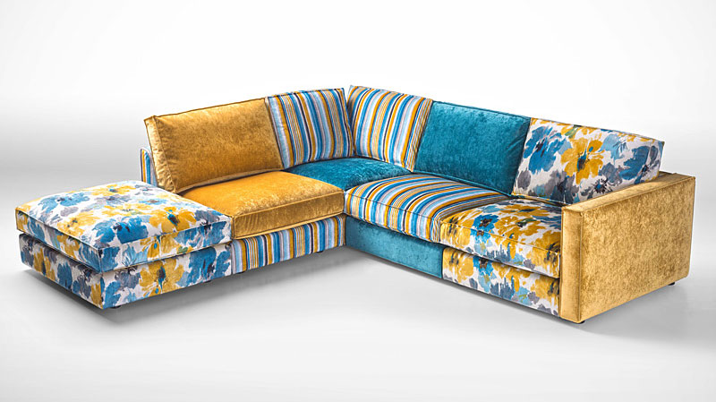 Sofa 3 chaise longue vintage Houston en Portobellostreet.es