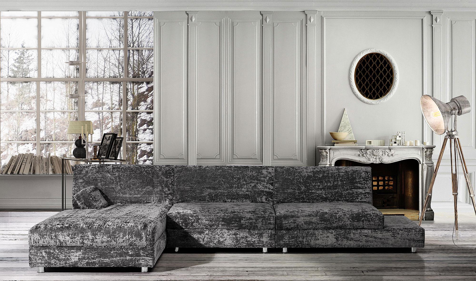 Sof con chaise longue avalon manhattan en for Sofas de 2 metros
