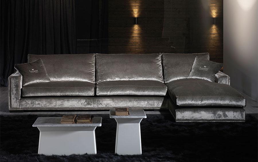 Sof ascot 5 plazas con chaise longue de lujo en for Fabricas de muebles en madrid y alrededores