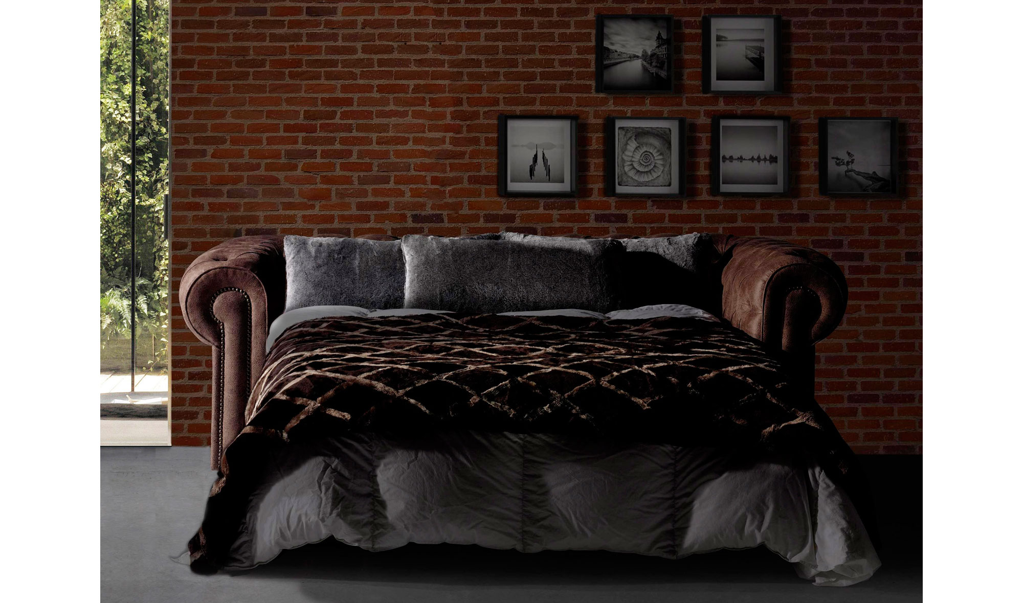 Sof chester cama vintage ford en for Sofa tipo chester