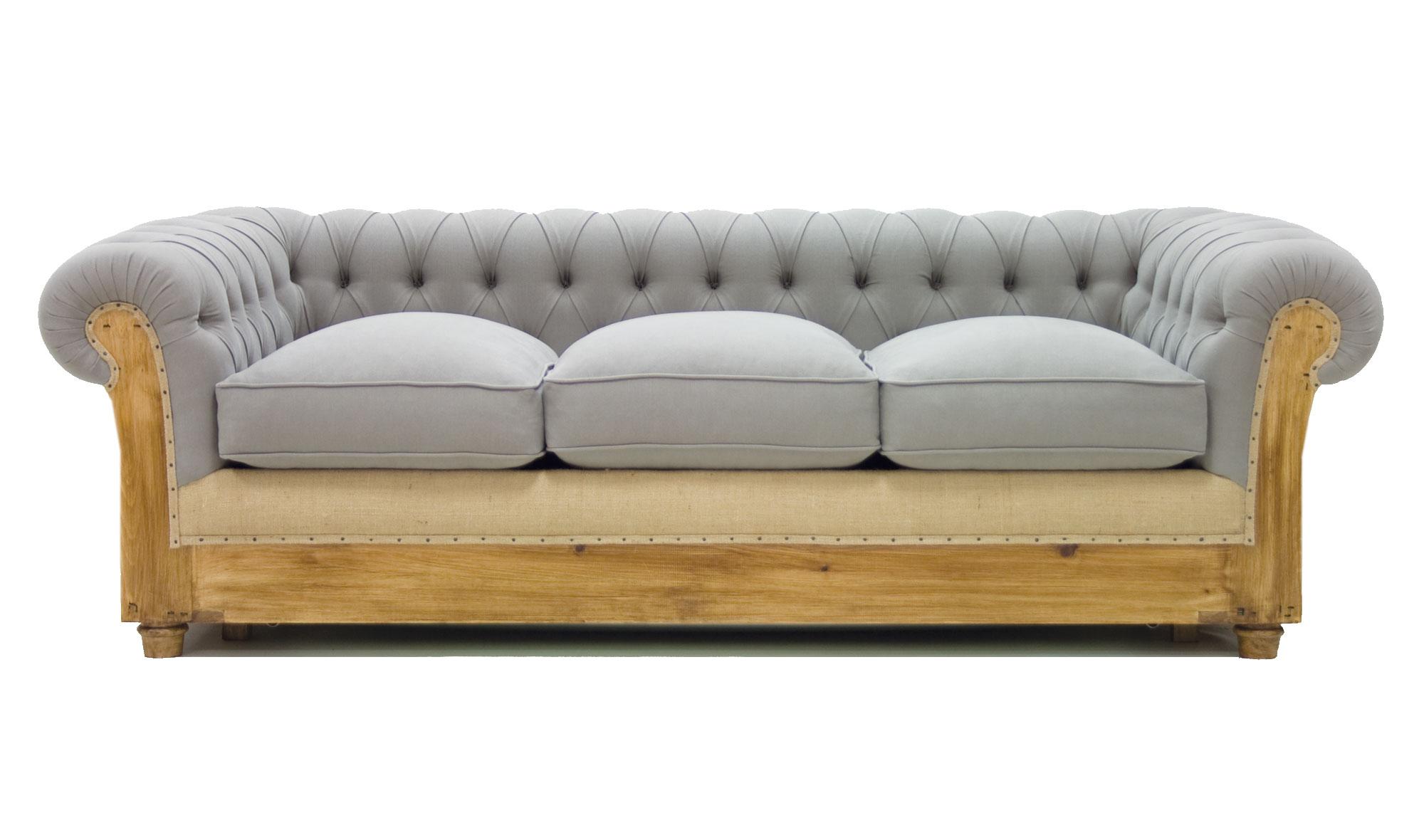 Sof cama gris chesterfield chesire de lujo en for Muebles la fabrica sofas cama