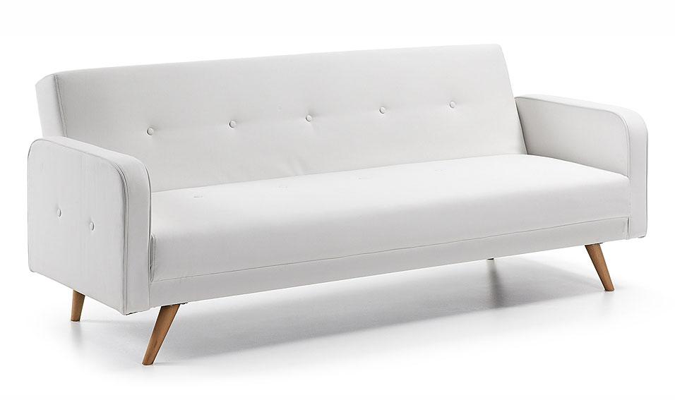 Sof cama retro blanco roger en for Vintage muebles y objetos