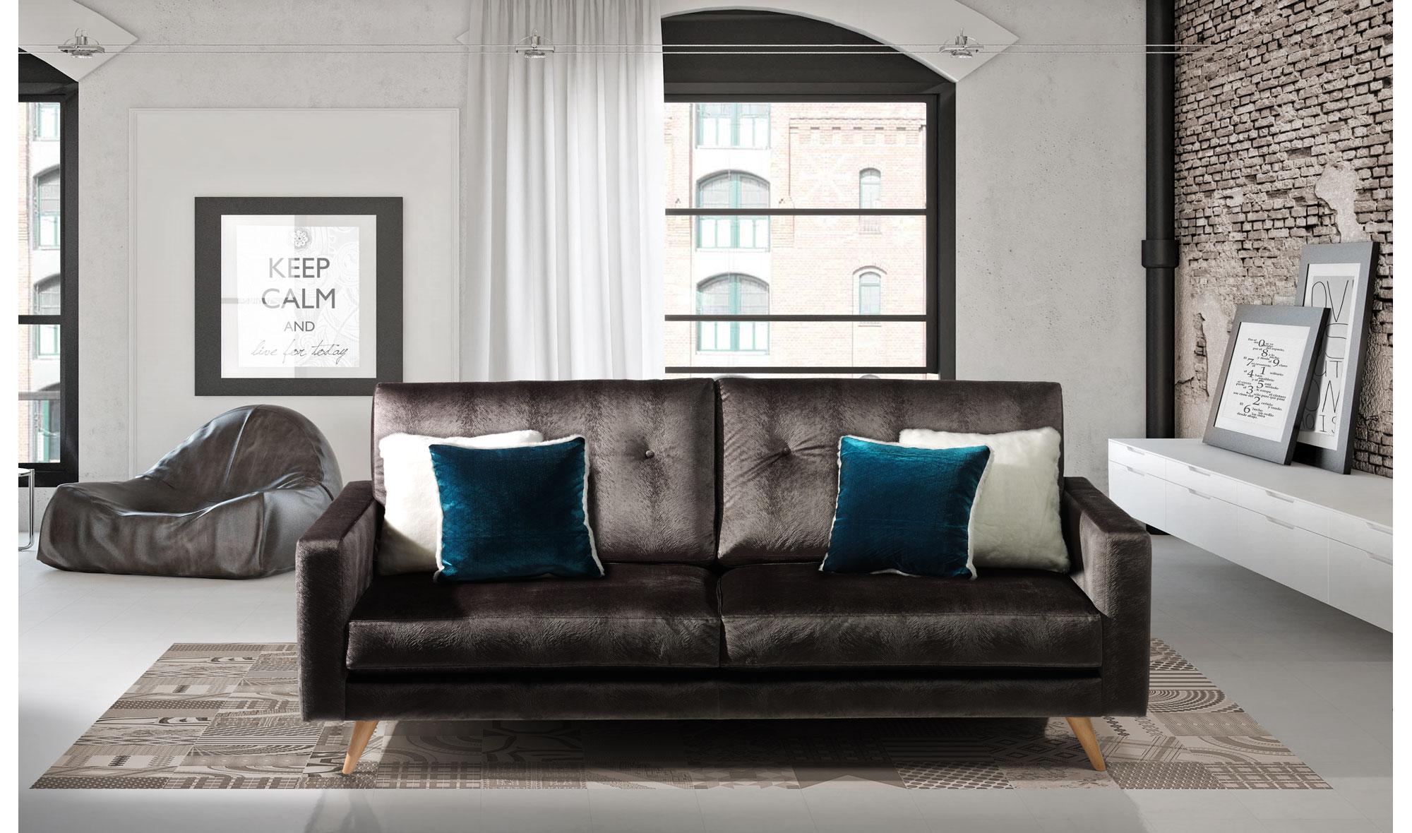 Sof moderno roger de lujo en tu - Portobello street muebles ...