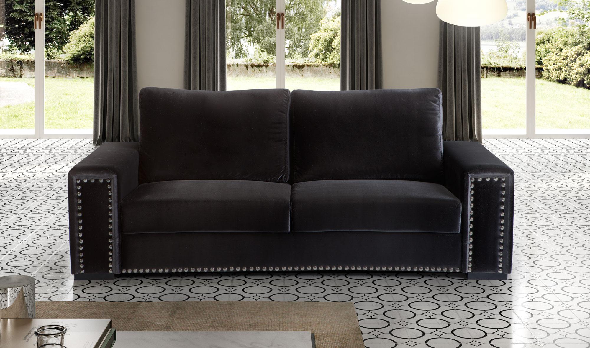 Sofá negro moderno Sharga no disponible en Portobellostreet.es