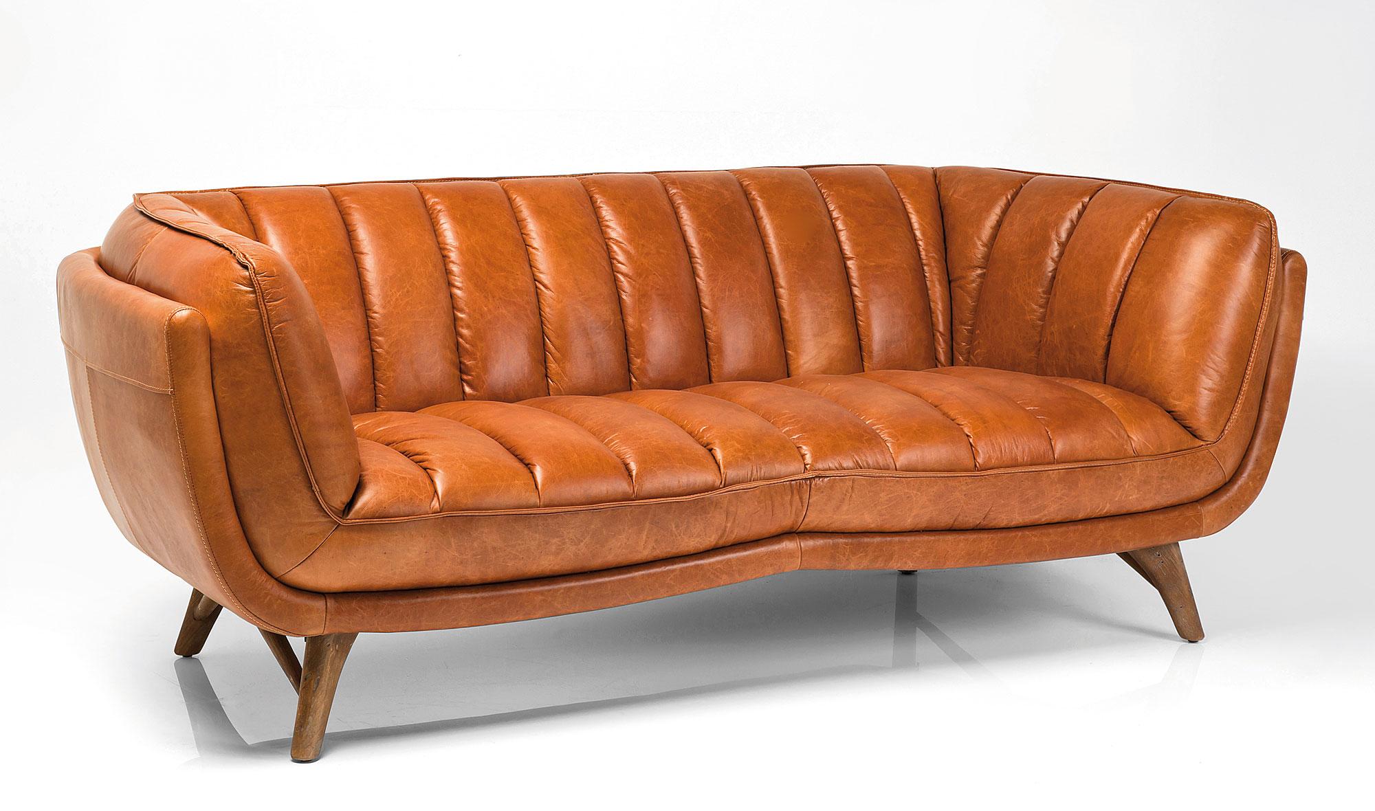 Sof piel vintage bruno de lujo en - Sofa piel vintage ...