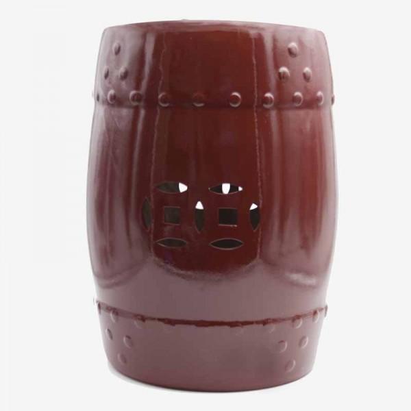 Taburete bajos agujeritos rojo Filum 1