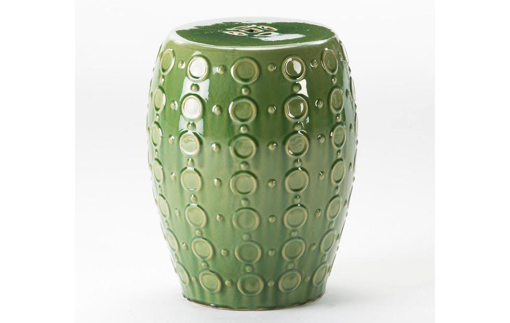 Taburete bajo chino cerámica verde