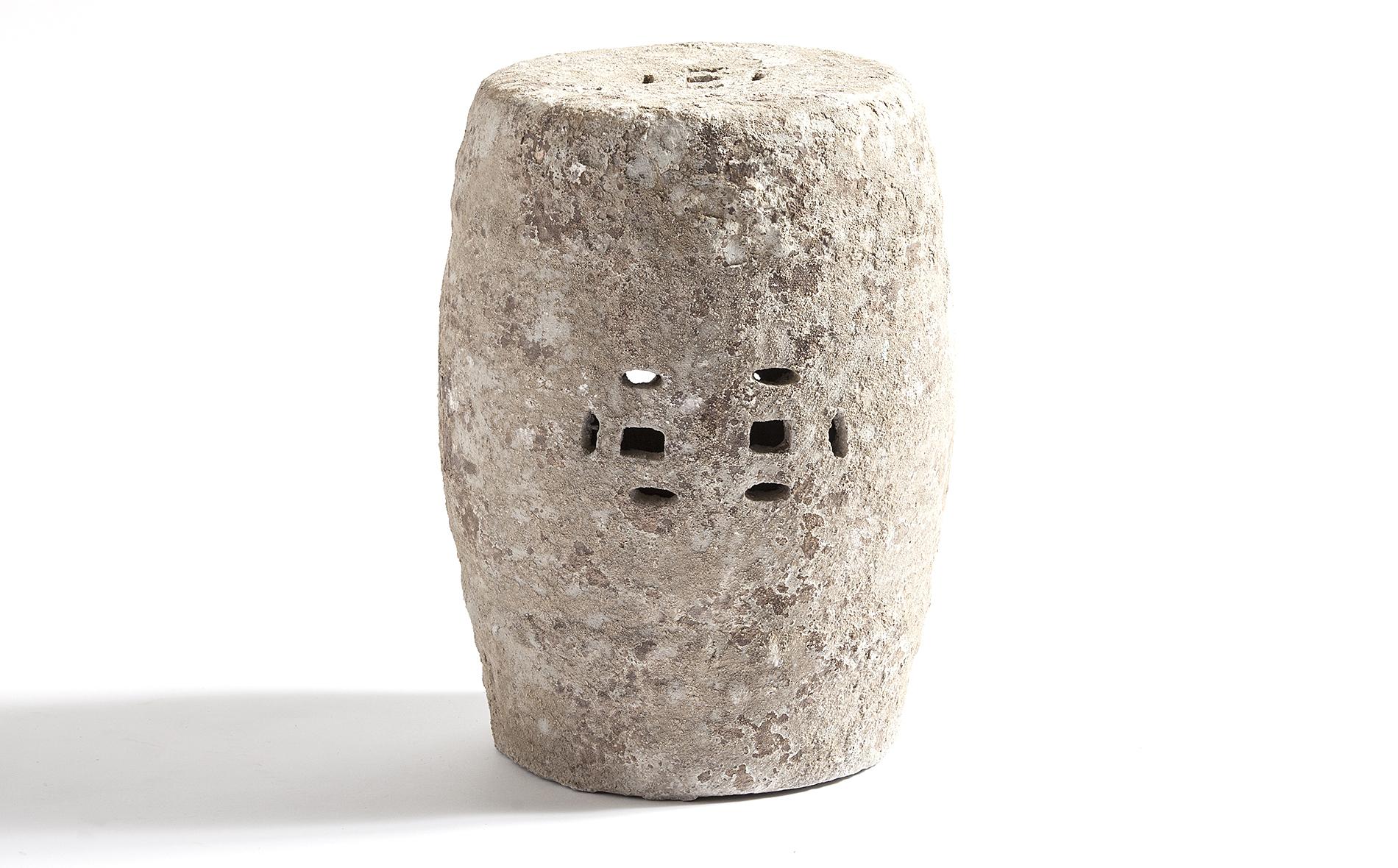 Taburete chino piedra beige no disponible en - Muebles de piedra ...