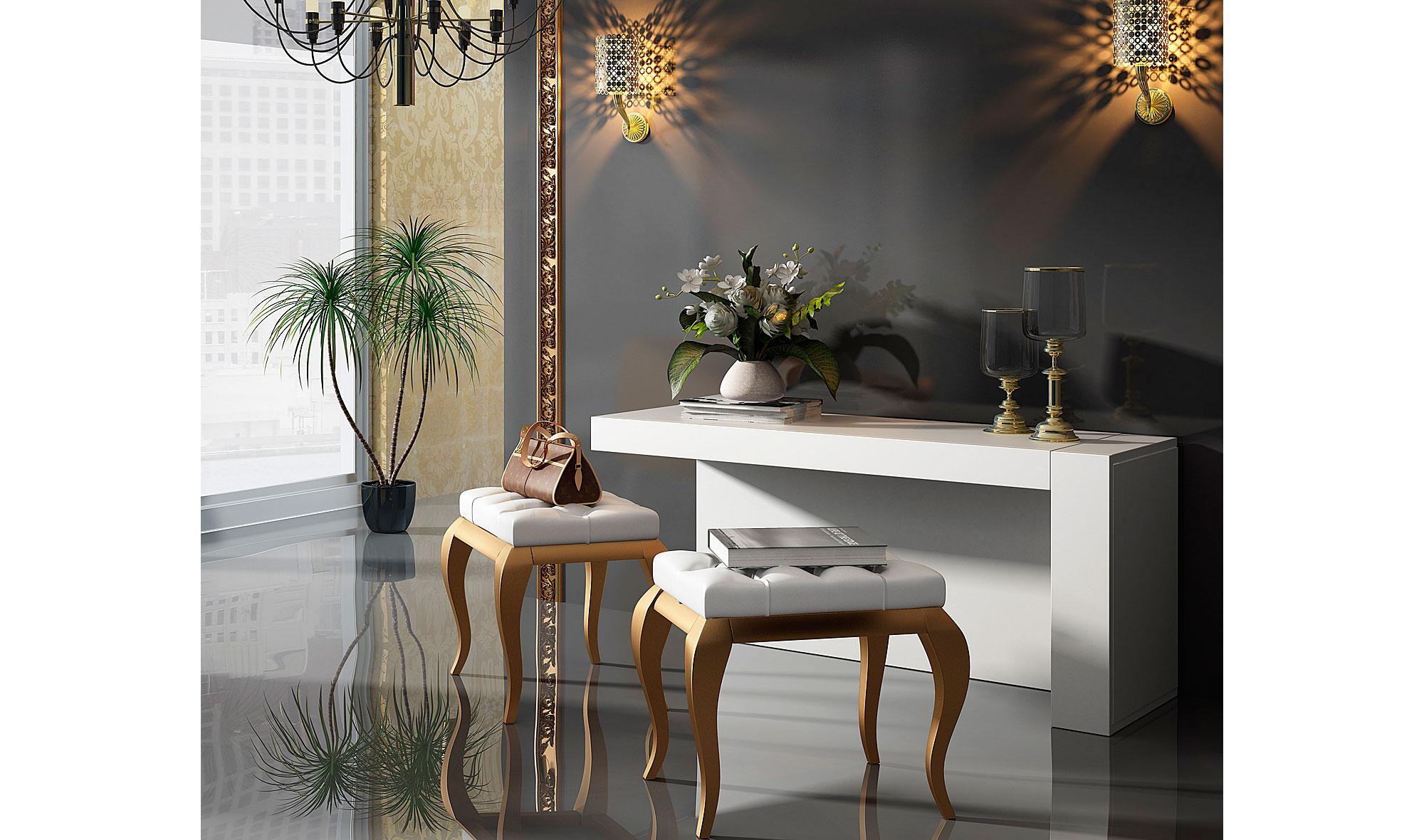 Tocador moderno bella oro no disponible en - Mueble tocador moderno ...