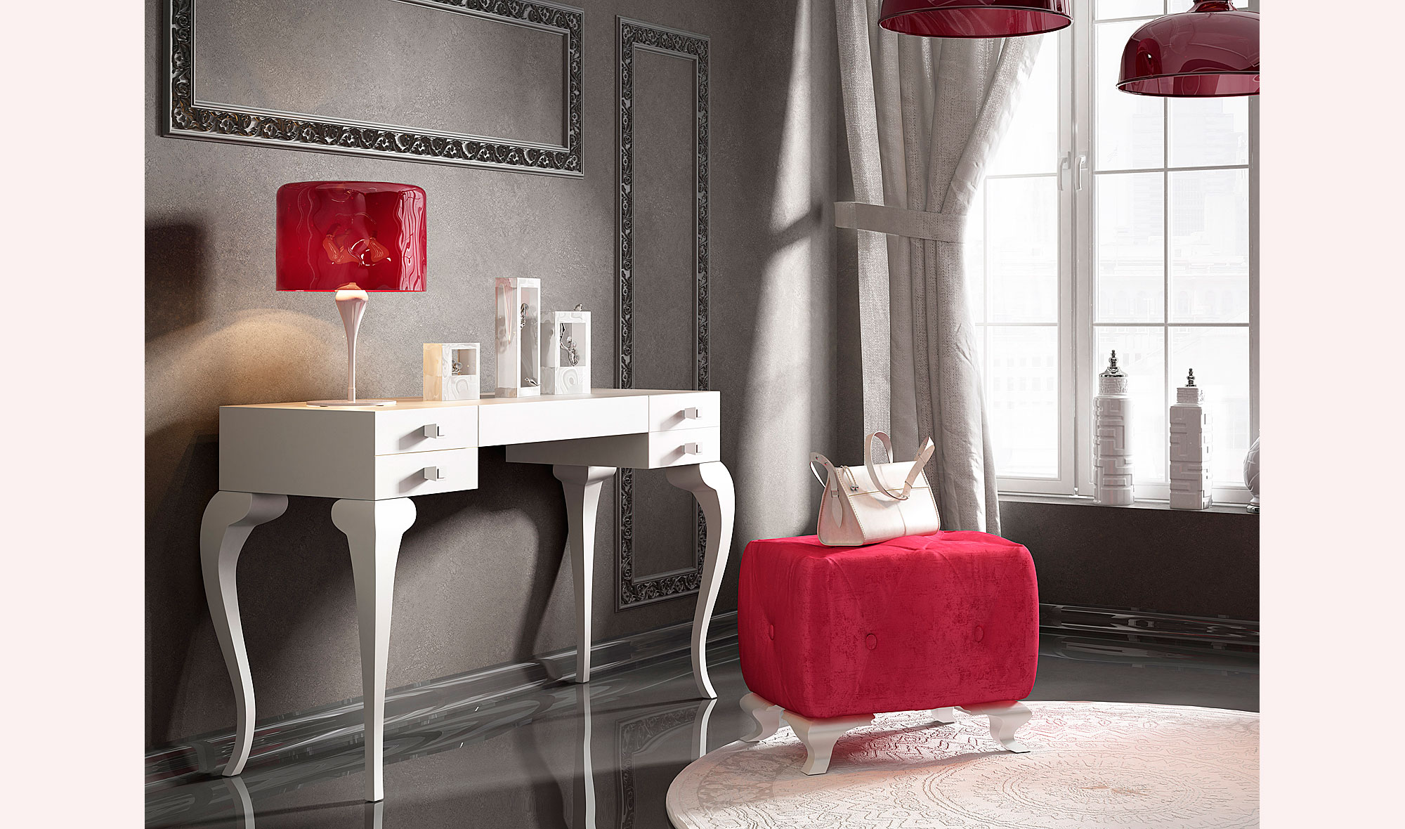 tocador moderno bella rouge no esta disponible