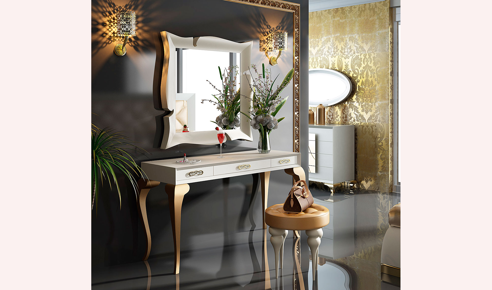 Tocador moderno bella silver no disponible en - Mueble tocador moderno ...