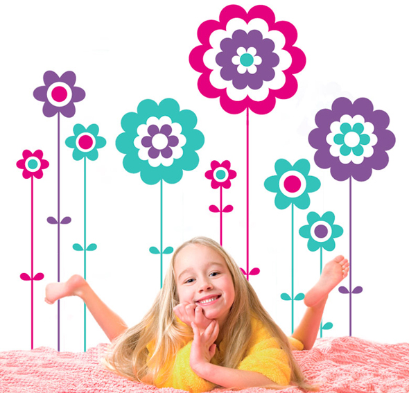 Vinilo candy flowers