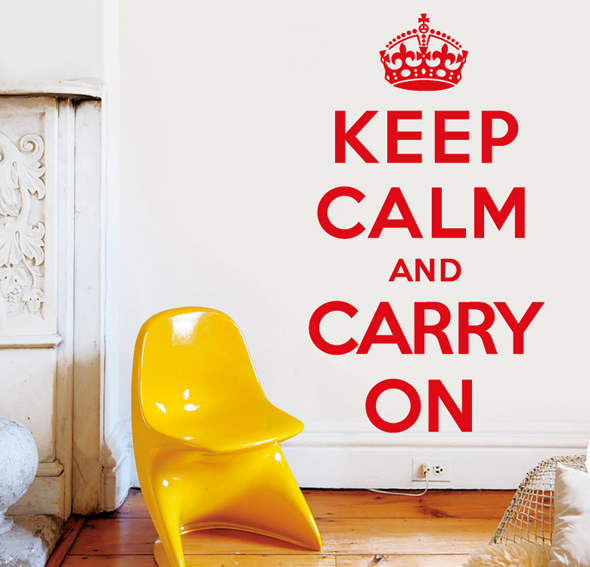 Vinilo keep calm 1