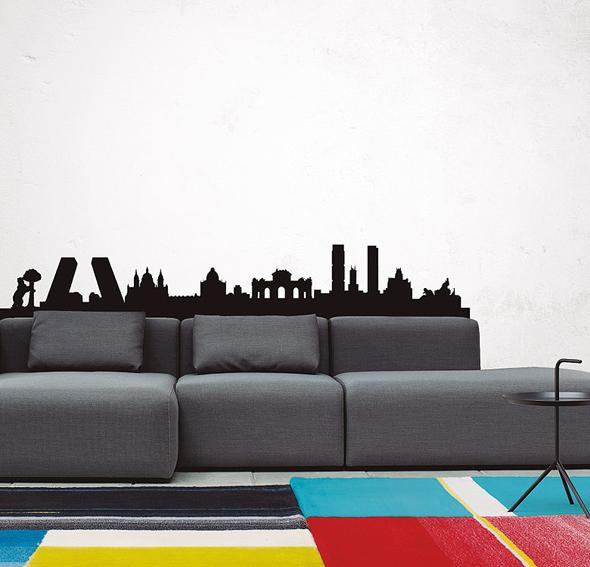 Vinilo madrid skyline xl en for Portobello madrid muebles