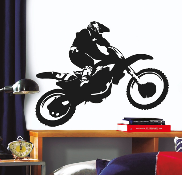 Vinilo motocross en for Vinilos para muebles de salon