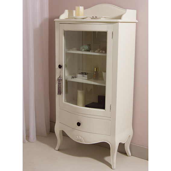 Vitrina 1 caj n blanca vintage par s en - Librerias salon blancas ...