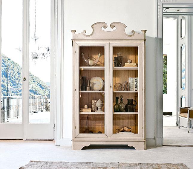 Vitrina vintage 2 puertas sestante en for Muebles japoneses antiguos