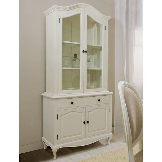 Vitrina 2 cajones blanca vintage par s en for Paris muebles comedor