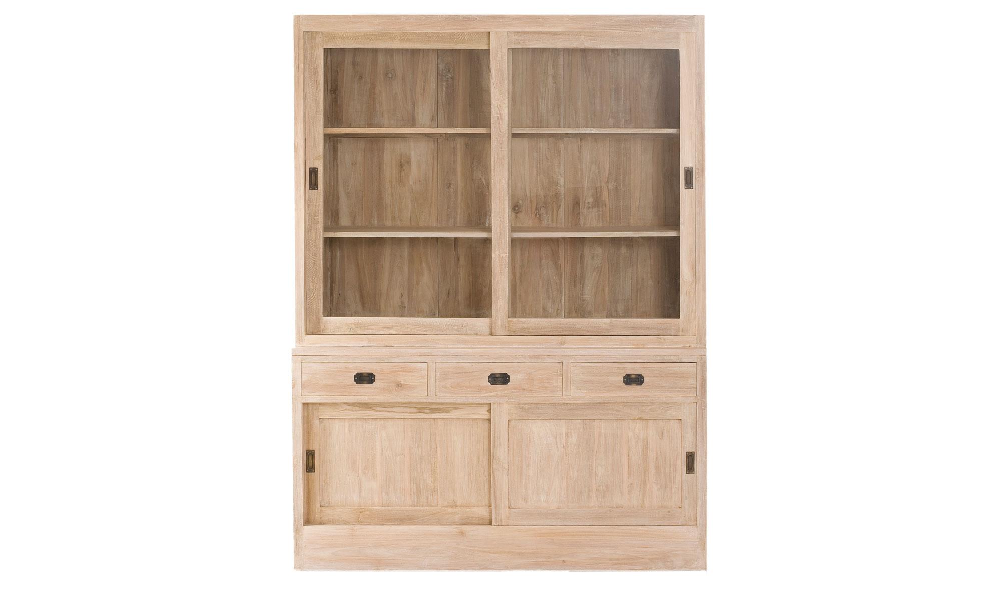 Vitrina 3 cajones colonial madera lavada disponibles en nuestra web