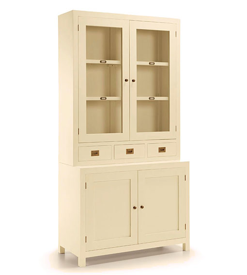 Vitrina blanca colonial 4 puertas jasmine no disponible en for Ikea vitrinas comedor