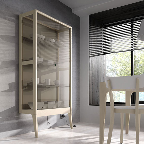 Vitrina exact estrecha no disponible en for Vitrinas muebles salon