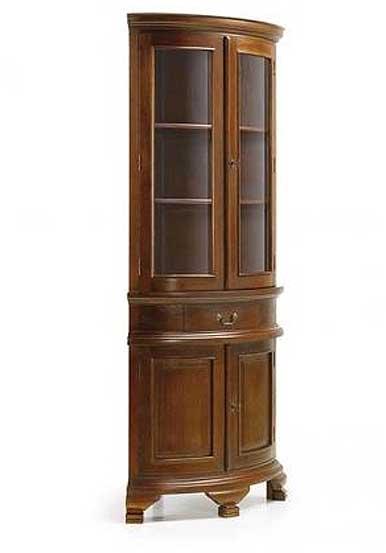 Vitrina rinconera 4 puertas vintage en for Muebles de rinconera