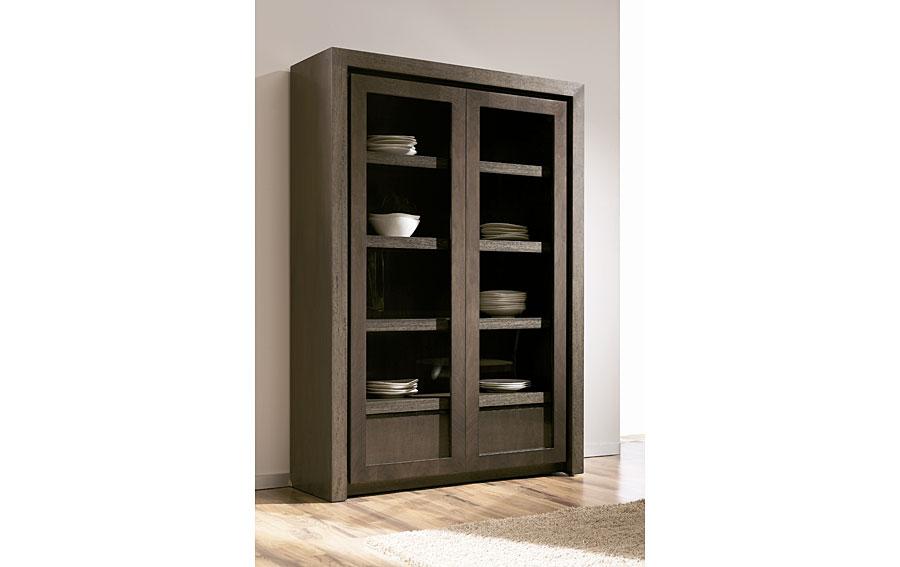 Vitrina de madera moderno radu en cosas de for Diseno de muebles de madera modernos