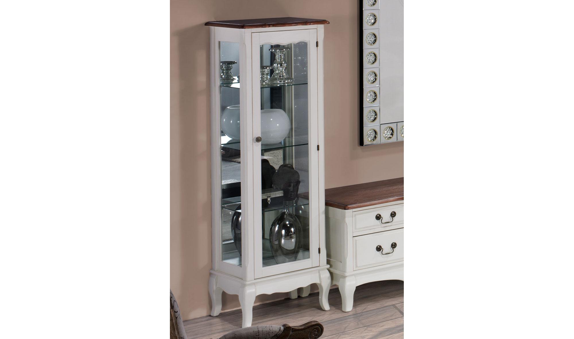 Vitrina estrecha vintage julienme en - Muebles de entrada vintage ...