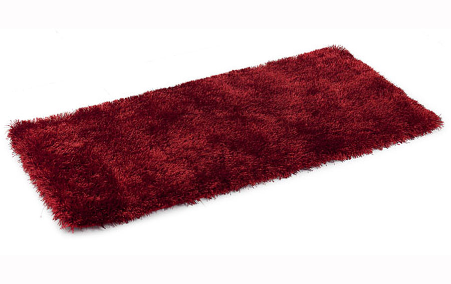 Alfombra shaggy pelo fino burdeos alfombras de pelo objetos de decoraci n - Alfombras shaggy pelo largo ...