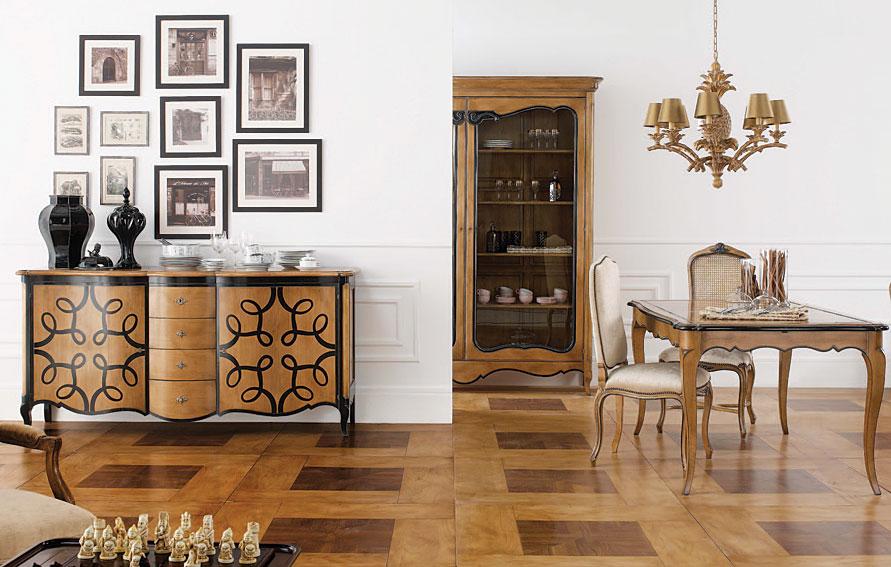 Comedor Clásico Luis XV black en La tienda de cabeceros de