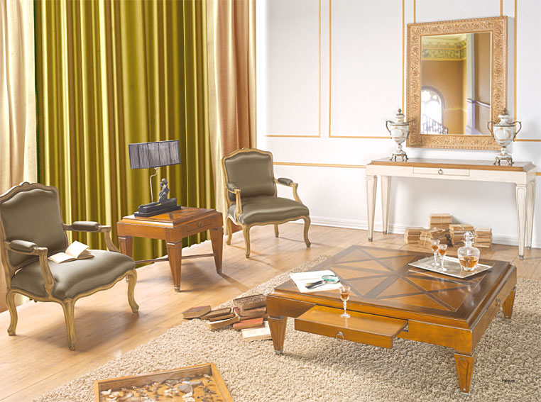 Salon clasico bemus en cosas de arquitectoscosas de for Modernizar salon muebles clasicos