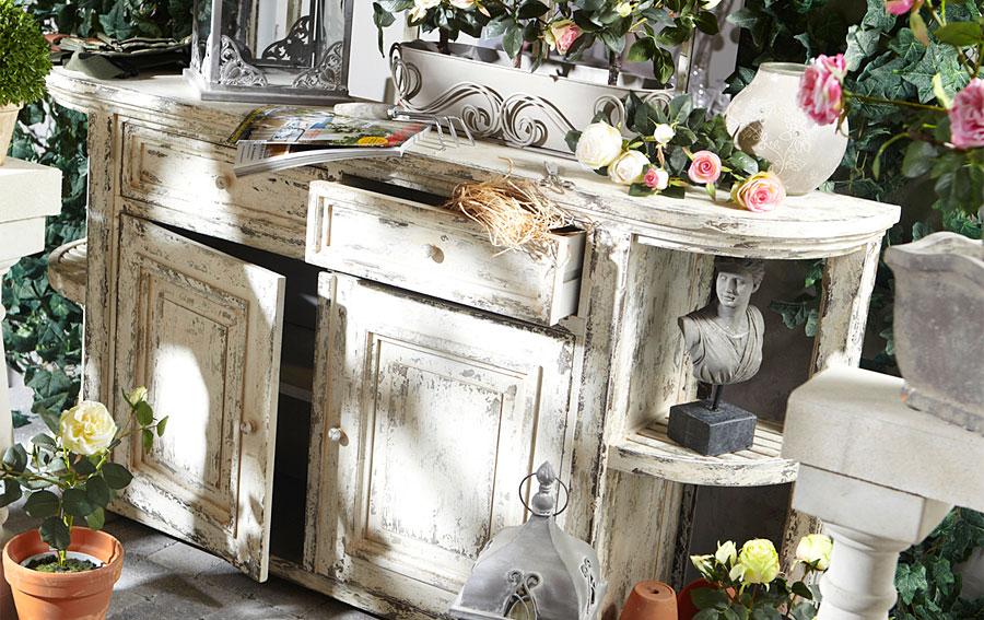 Aparador charme vintage no disponible en - Mueble blanco decapado ...